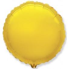 Шар (4''/10 см) Микро-круг, Золото, 1 шт.