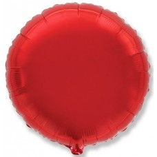 Шар (4''/10 см) Микро-круг, Красный, 1 шт.