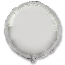 Шар (4''/10 см) Микро-круг, Серебро, 1 шт.