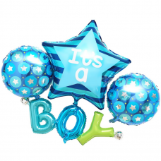 """Набор шаров-букв (14''/36 см) Мини-Надпись """"Happy Birthday"""", Розовый, Градиент, в упаковке 1 шт."""