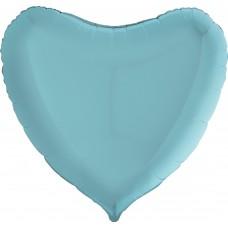 Шар (9''/23 см) Мини-сердце, Голубой, 1 шт.