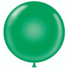 Шар (36''/91 см) Зеленый, пастель, 10 шт.