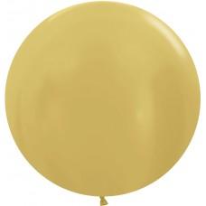 Шар (36''/91 см) Золото яркое (570), металлик, 10 шт.