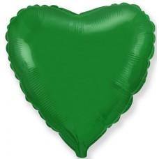 Шар (4''/10 см) Микро-сердце, Зеленый, 1 шт.