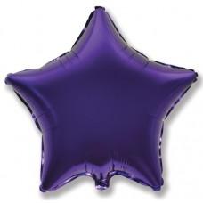 Шар (4''/10 см) Микро-звезда, Фиолетовый, 1 шт.