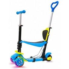 Самокат 4-в-1 со светящимися колесами для детей 1-9 лет, голубой KB05B-2