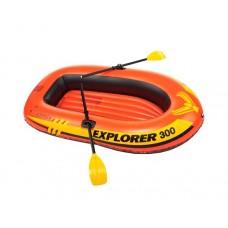 58332NP Надувная лодка EXPLORER 300 117х211х41 см Intex