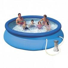 28132 Надувной бассейн Intex EASY SET 366x76 см + фильтр-насос 2006 л.ч