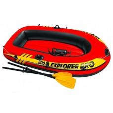 58357NP Надувная лодка двухместная Explorer 200 Set 196х102х33см Intex