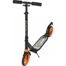 Самокат для взрослых до 100 кг, черный с оранжевым SA-401-2