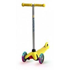 Самокат со светящимися колесами для детей 2-5 лет, желтый SA-100s-2