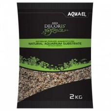 Aquael Грунт гравий натуральный 1.4-2 мм 2кг