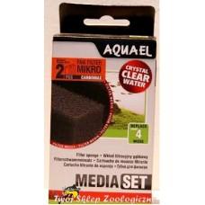 Aquael Наполнитель для фильтра Filtr.sponge FAN Micro Plus CARBO (2шт)