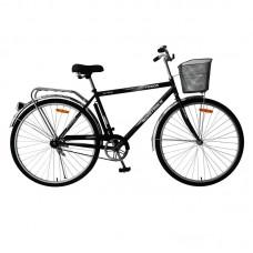 """Велосипед Foxx 28"""" Fusion 20"""", цвет черный + передняя корзина"""