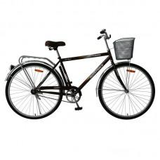 """Велосипед Foxx 28"""" Fusion 20"""", цвет коричневый + передняя корзина"""