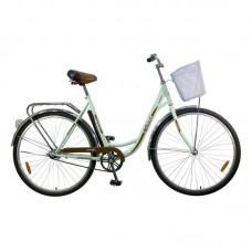 """Велосипед Foxx 28"""" Vintage 18"""", женский, цвет зеленый + передняя корзина"""