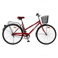 """Велосипед Foxx 28"""" FIesta 20"""", женский, цвет красный + передняя корзина"""